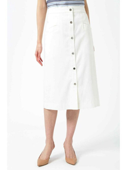 NATURAL BEAUTY(ナチュラル ビューティー)ターンバックウエストデニムタイトスカート