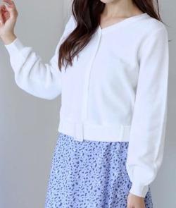 MEW'S REFINED CLOTHES(ミューズ リファインド クローズ)ベルト付き畦Vニット