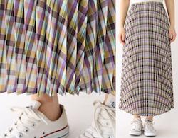 aquagirl(アクアガール)チェックプリーツスカート