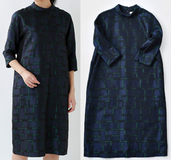 nooy(ヌーイ)ジャガードロールカラードレス