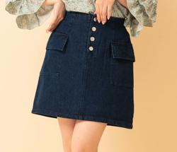 RETROGIRL(レトロガール)フェイクボタン付台形スカート