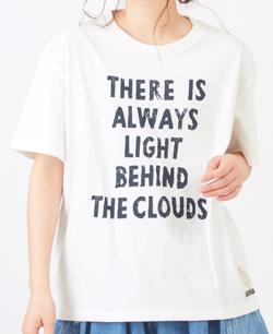 さくら並木プロジェクト オーガニックコットン ロゴプリントクルーネックTシャツ【ホワイト】