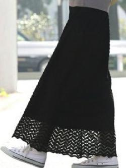ViS(ビス)レースロングスカート【ブラック】