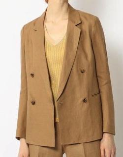 BACCA(バッカ)フレンチリネンシャンブレー ダブルブレストジャケット
