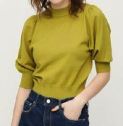 SLY(スライ)TURTLE PUFF SLEEVE TOPS