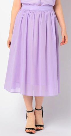 NOLLEY'S (ノーリーズ) ボイルミディギャザースカート
