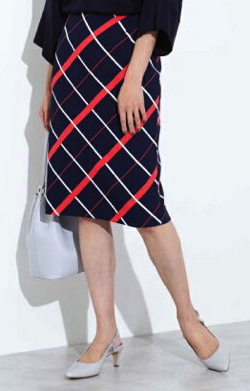 BOSCH(ボッシュ)マリンチェックプリントスカート
