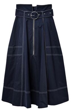 REDYAZEL(レディアゼル) 配色ステッチフレアスカート