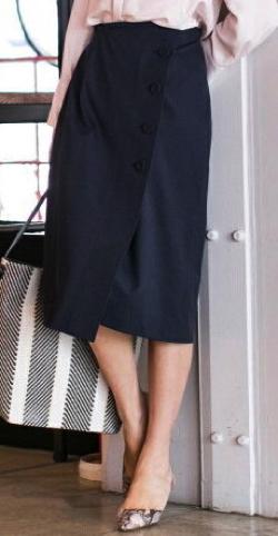 LAUTREAMONT (ロートレアモン) ボタンデティールラップスカート