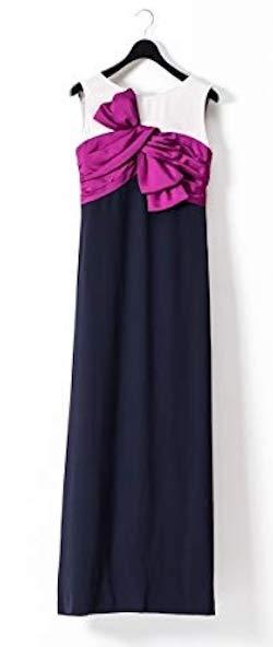 GRACE CONTINENTAL(グレースコンチネンタル)リボン配色ロングドレス