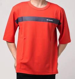 ColumbiaテトンストレイトハーフジップTシャツ