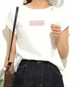 ビス(ViS)胸ロゴ刺繍プルオーバー