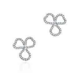 TIFFANY&Co(ティファニー)ダイヤモンド オープン フラワー ピアス