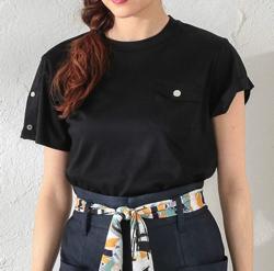 LOVELESS (ラブレス) アシメスリーブポケットTシャツ