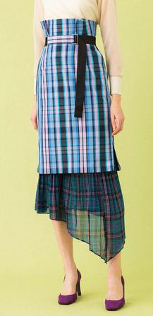 UNITED TOKYO ミックスマテリアルスカート