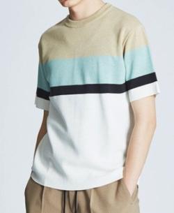 ABAHOUSE(アバハウス)ミラノリブラインニットTシャツ