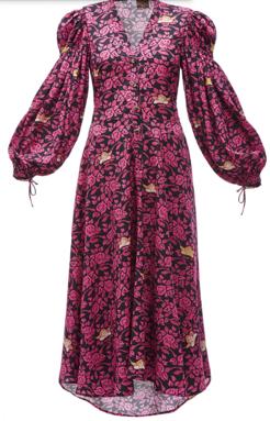 LOEWE パウラプリントペザントシャツドレス