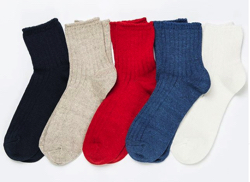 RoToTo R1030 LINEN COTTON RIB SOCKS MIDDLE