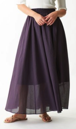 EMMEL REFINES(エメル リファインズ)コットンボイル ギャザーマキシスカート