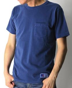 RUSSELL ATHLETIC ショートスリーブ ヘビーウエイト 後染め ポケット Tシャツ