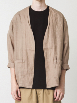 SLICK  Linen Buttonless Shirt Cardigan