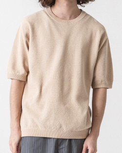 SLICK SLICK High-Twist Pique Pullover Knit
