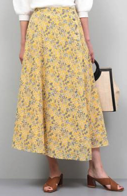 ROPE'(ロペ) カットペイズリープリントスカート