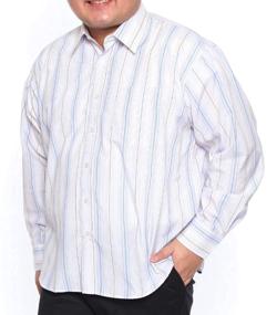 B&T CLUB ストライプレギュラーカラー 長袖カジュアルシャツ