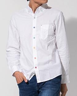003 J.FERRY マルチボタンオックスシャツ