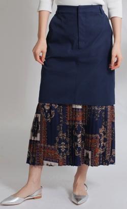 LADYMADE(レディメイド)スカーフレイヤードアレンジアシメスカート