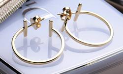 Tiffany&Co. ティファニーTワイヤー フープピアス