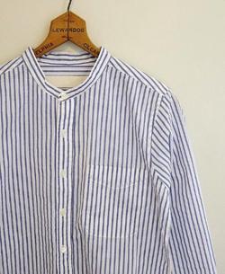 Vas-y Lentement ストライプクルーネックシャツ