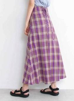 N.(N. Natural Beauty Basic) バックレースアップマキシスカート