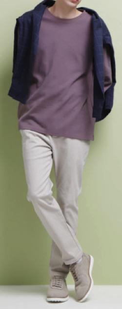 EMMA CLOTHES ロールアップスリーブポンチプルオーバー