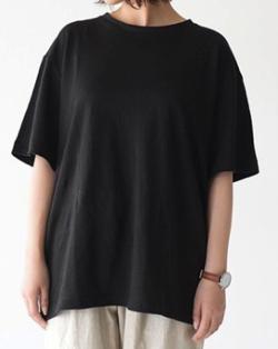 unfil フレンチリネン オーバーサイズTシャツ