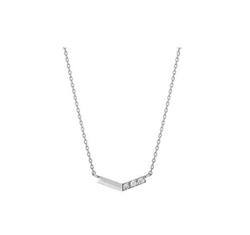 TAKE-UP K10 ダイヤモンド V字3石 ネックレス