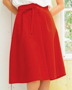 PATTERN・fiona タックフレアカラースカート