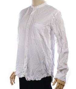 VAS-Y LENTEMENT(ヴァジーラントマン)バンドカラーシャツ(オーガニックコットン)