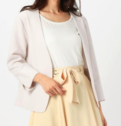 MEW'S REFINED CLOTHES 7分袖カラーレスジャケット