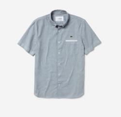 LACOSTE 玉縁配色ボタンダウンシャツ