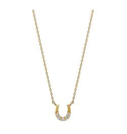 TAKE-UP ホースシューダイヤモンド5セキネックレス( YG)