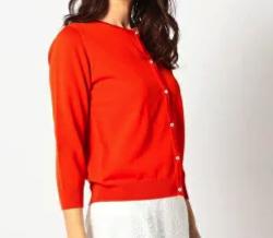 MEW'S REFINED CLOTHES(ミューズ リファインド クローズ),洗える接触冷感7分袖定番カーディガン