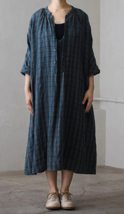 Vlas blomme Hazy Forest 2Way ワンピース