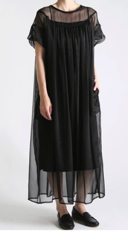 08sircus crepe gather dress