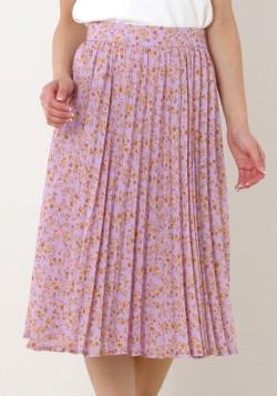 MISCH MASCH(ミッシュマッシュ)花柄プリーツスカート