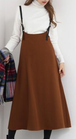 N.(N. Natural Beauty Basic)サスペンダー付スカート