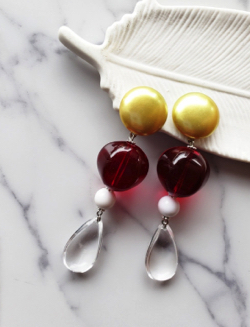 presence lime yellow pearl × clear red × clear drop