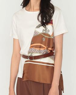 LOVELESS ドレープ スカーフ Tシャツ