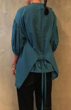 ikkuna/suzuki takayuki puff-sleeve blouse