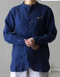 Vlas Blomme KL Heritage 60(ムラ染め) VBヨークシャツ